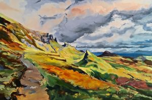 """""""The Quiraing"""" Oil on Canvas by Julia L. Greenway"""