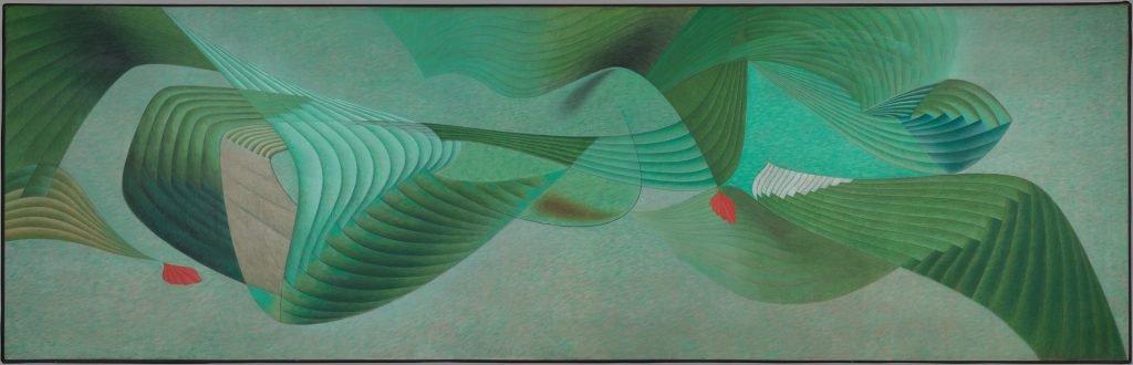 "Herbert Bayer, ""Verdure"" oil on canvas, 1950"